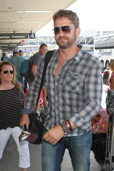 Gerard Butler pictured leaving LAX