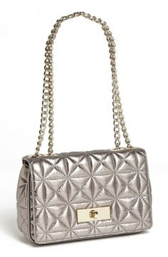 Shiny! kate spade new york metallic silver crossbody bag