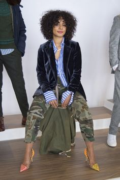 Crew at New York Fashion Week Fall 2017 - Runway Photos Camo Fashion, Fashion Moda, Fashion Week, New York Fashion, Winter Fashion, Fashion Looks, Fashion Outfits, Womens Fashion, Fashion Trends