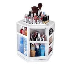 Tabletop Spinning Cosmetic Organizer. I just organized all my make-up then saw this! What a great idea! I'm ordering it today.