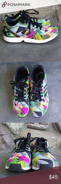 023dc72e6 Adidas Torsion ZX Flux Athletic Shoe Torsion ZX Flux in geometric pattern