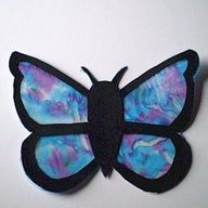 butterfly craft - with shaving cream marbling