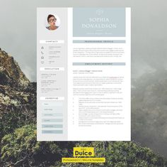 "CV Template | Resume Template | CV Design + Cover Letter + CV Guide for Microsoft Word | Instant Digital Download | ""Carnaby"""