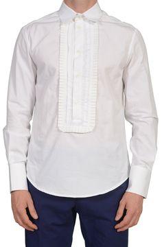 d6e9ec7f43 JUST CAVALLI Made In Italy White Cotton Dress Shirt US S EU 48. SARTORIALE