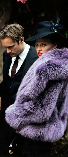 Gucci Purple Fur Coat Fantasy Fashion #UNIQUE_WOMENS_FASHION