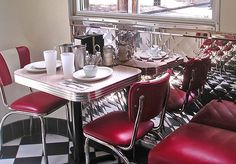Dream kitchen is a 50's diner style