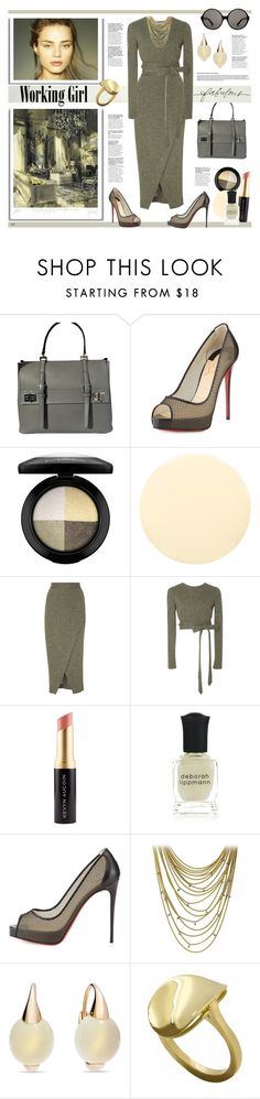 """""""Untitled #982"""" by louise-stuart ❤ liked on Polyvore featuring Prada, Christian Louboutin, MAC Cosmetics, Smith & Cult, Christine Alcalay, Kevyn Aucoin, Deborah Lippmann, Cartier, Pomellato and Daou"""