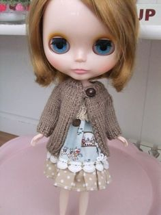 BLYTHE DOLL knitted cardigan jacket by Tillyknits on Etsy