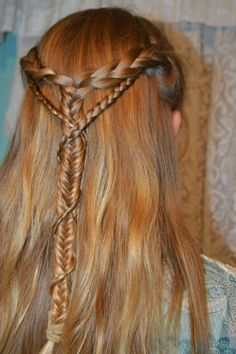 Whatsoever Things Are Lovely: Medieval Elf Braid Wrapped Braid / / Hair Tutorial