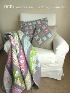 Cheater Cathedral Window Pillow tutorial to go with my next quilt