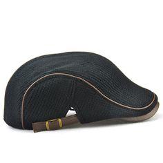 eeab2de5 Men Women Knitting Beret Caps Newsboy Buckle Adjustable Casual Outdoors  Peaked Hat - NewChic Visor Cap