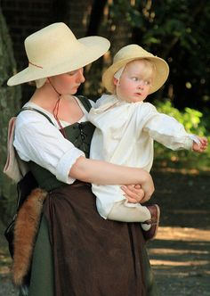 "A ""Tudor"" mother & child at Kentwell's August Bank"