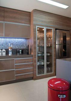 cozinha planejada marrom e bege - Pesquisa Google