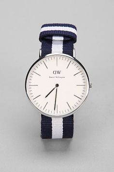 My favorite watch so far. Too pricey for me... but maybe one day. I love the simple design, and the strap is fun and has a lot more personality than a leather strap, although I like those, too.