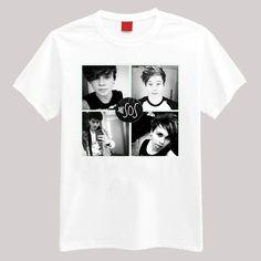 5SOS Band B/W T Shirt