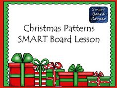 This SMART Board lesson has 15 interactive/self-checking slides for practicing the following patterns: AB, ABB, AAB, ABC and AABB.This would be perfect for a small group SMART Board center or as a whole group lesson.  All patterns have cute Christmas clip art to make the season bright!!!***You need SMART Notebook to open this file.***