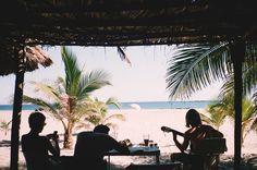 Make music on the beach #summer