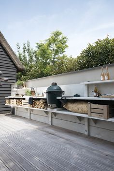 Simple Outdoor Kitchen, Small Outdoor Kitchens, Outdoor Kitchen Plans, Outdoor Kitchen Design, Outdoor Cooking, Outdoor Rooms, Terrace Grill, Outdoor Grill Area, Grill Gazebo