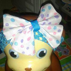 Polk a dot Easter color headband