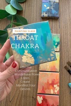 The Throat Chakra can be balanced and strengthened through art. Artist Leah Guzman guides you with techniques of meditation, journaling and a painting video to create effective communication to manifest your desires. Learn more at www.leahguzman.com #chakras #meditation #painting