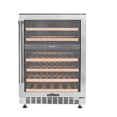 Thorkitchen JC145A2EQ 46 Bottle Builtin  Free Standing Dual Zone Wine Cooler Stainless Steel ** You can get additional details at the image link. We are a participant in the Amazon Services LLC Associates Program, an affiliate advertising program designed to provide a means for us to earn fees by linking to Amazon.com and affiliated sites.