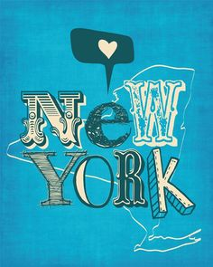 Check out our new york city typography selection for the very best in unique or custom, handmade pieces from our shops. New York Life, Go To New York, New York Art, Love Posters, Travel Posters, New York Illustration, New York Poster, Manhattan Bridge, Empire State Of Mind