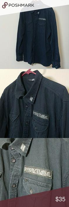 Black Long Sleeve Lost Shirt Linen-blend Shirt Relaxed fit - Black - Men Lost Shirts