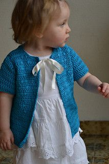 Pearls and Diamonds  by Julia Vaconsin - free baby sweater crochet pattern