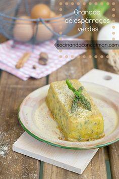 granada de espárragos- asparagus cake
