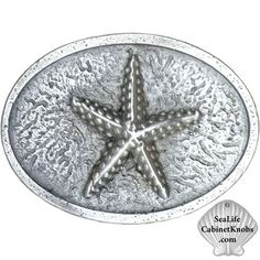 Starfish Cabinet Knobs   Cast in fine pewter, custom finishes, Several size options, and additional configurations.