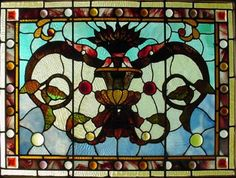 Stained Glass  ~  Links to LARGE & SMALL puzzles inside (88 pieces)