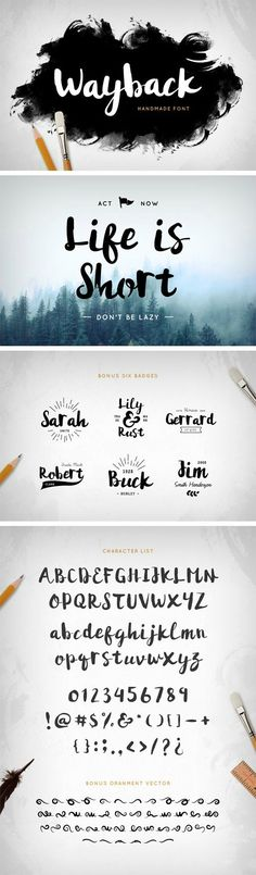 Wayback Script Font » Vector, PSD Templates, Stock Images, After Effects, Fonts, Web Design, Indesign