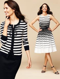 Talbots - Nautical-Stripe Dress   Peek Week   Misses