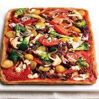 Pizza aux légumes frais