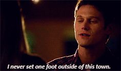 When Matt decided to go away with Rebekah.