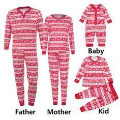 Women Mom Deer T Shirt Tops Blouse Pants Pajamas Christmas Set Family Clothes