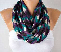 Chevron  Infinity Scarf Shawl Circle Scarf  Loop  Scarf by anils, $22.00
