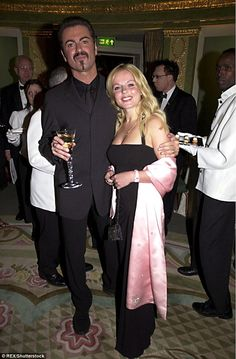 Never forgotten:Geri previously said George was the 'only celebrity friend' she had, apart from the Spice Girls