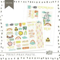 My printable kit with @illustratedfaith  Print Pray Paste | Things Unseen - Illustrated Faith  Mandy Ford Art & Illustration  #biblejournaling #illustratedfaith #printpraypaste