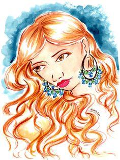 Jeweled Wall Art Wall Hanging Illustration Print by RedMothShop