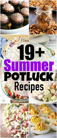 Summer Potluck Recipes Ready for Summer Picnics? I'm sharing over 19 of my favorite Summer Potluck Recipes for your next summer potluck! From savory to sweet, I've got you covered with all sorts of delicious tried and true potluck recipes! Best Potluck Dishes, Church Potluck Recipes, Easy Potluck Recipes, Healthy Potluck, Work Potluck, Potluck Dinner, Summer Potluck, Summer Salad Recipes, Potluck Ideas