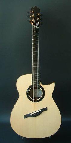 2013 Hiro Ebata Style D Acoustic Guitar: Fanned Fret. European Spruce Top, African Blackwood Back & Sides. Acoustic Guitars, Music Instruments, African, Flat, Inspiration, Beautiful, Style, Bass Guitars, Guitar