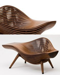 Korean artist Bae Se-hwa started generating blog buzz following the appearance of his Steam 11 walnut chair
