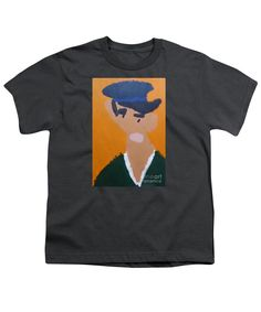 Patrick Francis Charcoal Designer Youth T-Shirt featuring the painting Young Man With A Hat 2014 - After Vincent Van Gogh by Patrick Francis