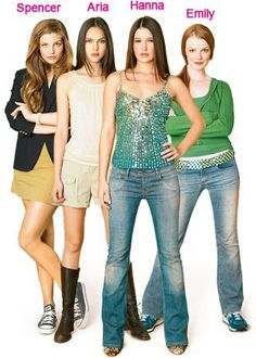 Pretty Little Liars book characters...so different from the show Definitely love the show characters better