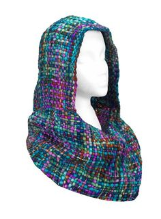 Chunky Knit Hooded Infinity Scarf