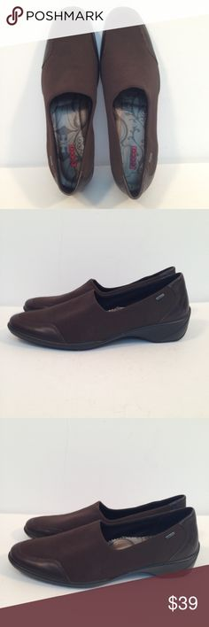 Ecco Eccolight Womens Gore-Tex Brown Slip On Shoes Ecco Eccolight Womens Gore-Tex Brown Slip On Shoes Eur 42  US size 11 NWOT- never worn Ecco Shoes Flats & Loafers