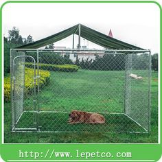 1000 Ideas About Chain Link Dog Kennel On Pinterest