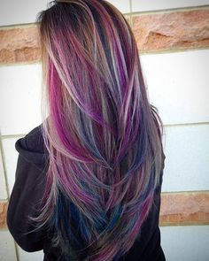 Purple Hair Color Ideas for Blonds Which Carry the Best Quality If you need some fantastic hair color for your long hair, you may take a look in the collection we have got over here, and you should also take a look in the link we have got over here. Hair Color Purple, Hair Color And Cut, New Hair Colors, Cool Hair Color, Hair Cuts And Color Ideas, Unique Hair Color, Unique Hair Cuts, Peacock Hair Color, Purple Hair Streaks