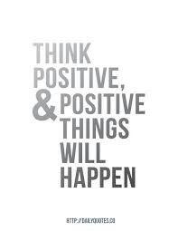 A positive outlook breeds a positive outcome